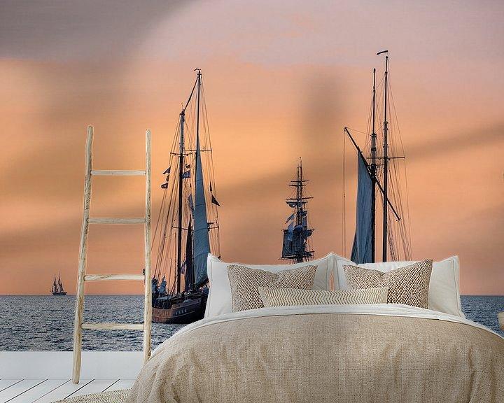 Beispiel fototapete: Segelschiffe auf der Hanse Sail von Rico Ködder