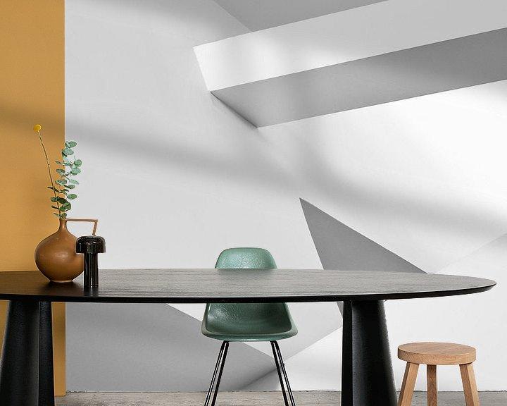 Sfeerimpressie behang: Guggenheim II van Frank Hoogeboom