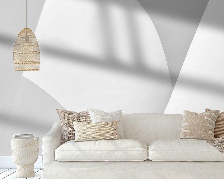 Sfeerimpressie behang: Guggenheim IV van Frank Hoogeboom