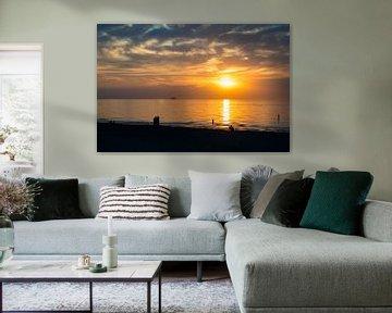 Ondergaande zon in Zeeland von Karin van Waesberghe