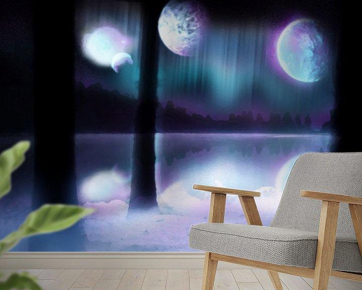 Sfeerimpressie behang: Planetarium - Painted van Jeffrey Miseroy