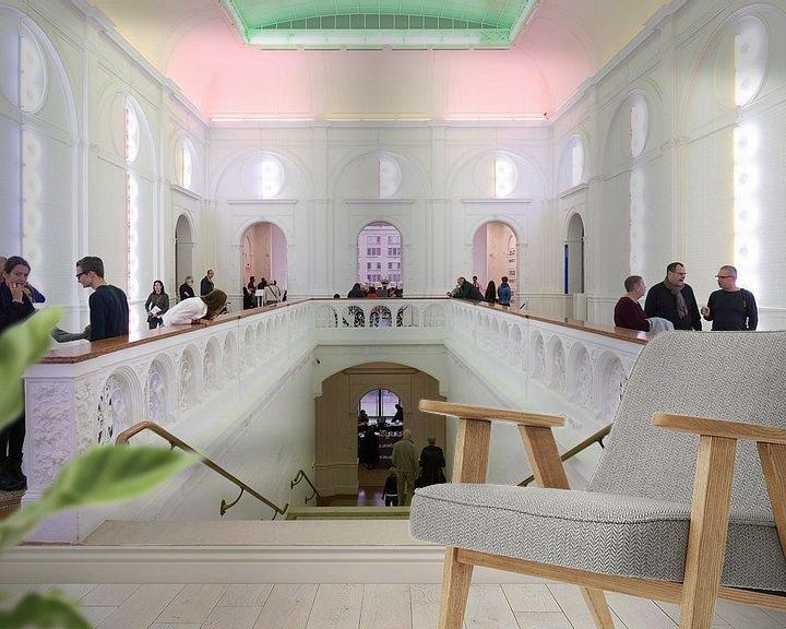 Sfeerimpressie behang: Stedelijk Museum Amsterdam van Roelof Foppen