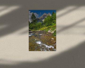 Mountain River in den Alpen