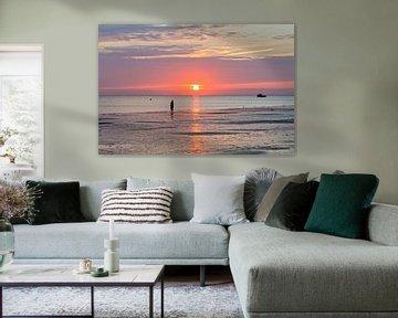 Zomerse zonsondergang.. van Miranda van Hulst