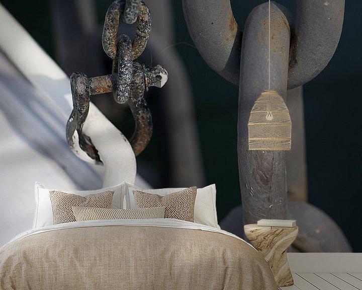 Sfeerimpressie behang: Chain I van Mark Leek
