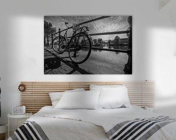 """Amstel"", Amsterdam (Zwart-wit) von Kaj Hendriks"