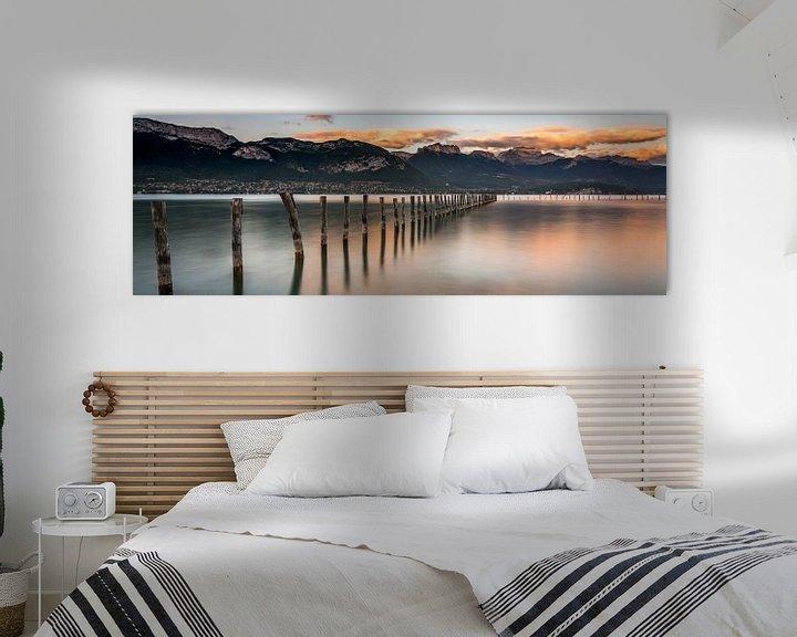 Sfeerimpressie: Panorama van het Meer van Annecy van Sander Grefte