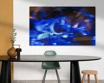 Abstract blauw van Kees Martijn Nix