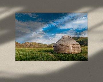 Joert in de bergen in Kirgizië van Jaco Visser