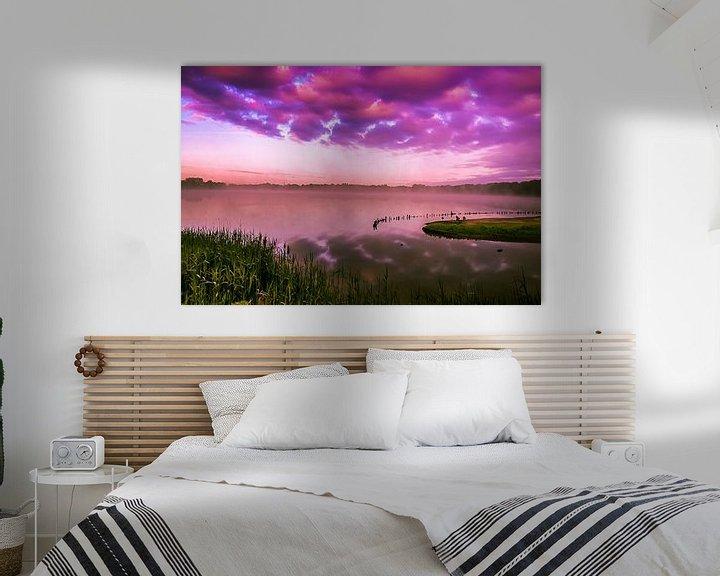 Sfeerimpressie: Purple morning... van Hermen van Laar