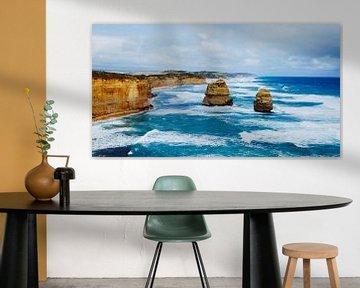 La mer agitée aux Douze Apôtres - Great Ocean Road, Australie sur Be More Outdoor
