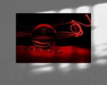Glaskolben (Kunst / Art) rot von Fotografie Sybrandy