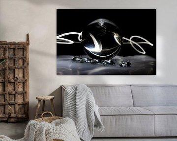Glaskolben (Kunst / Art) schwarz von Fotografie Sybrandy