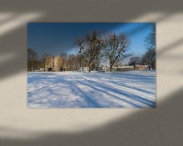 Meezenbroekerweg gezien vanuit het park in Meezenbroek te Heerlen van Francois Debets