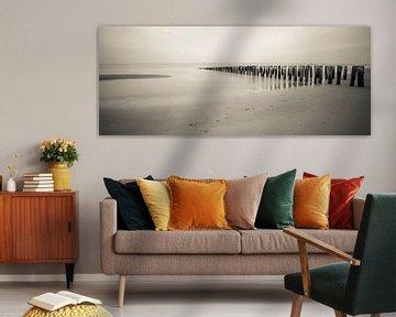 Panorama strand Domburg von Daniël Steenbergen