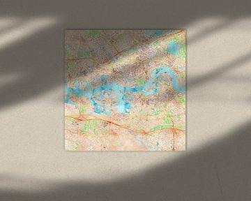 Kaart Rotterdam in waterverf von Creatieve Kaarten