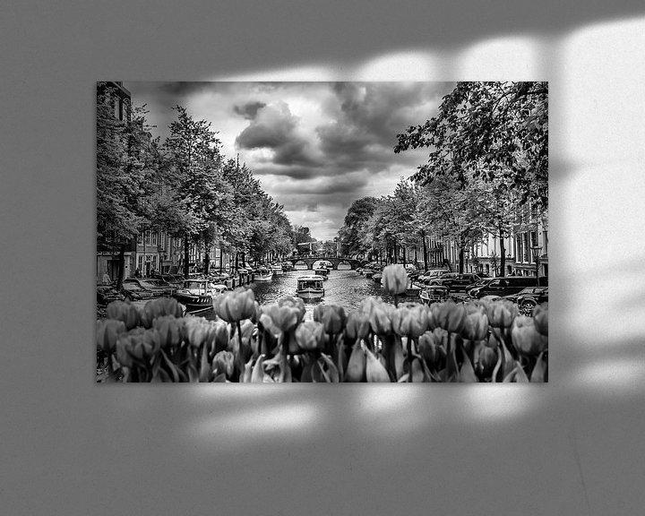 Sfeerimpressie: AMSTERDAM Gentlemen's Canal | monochrome van Melanie Viola