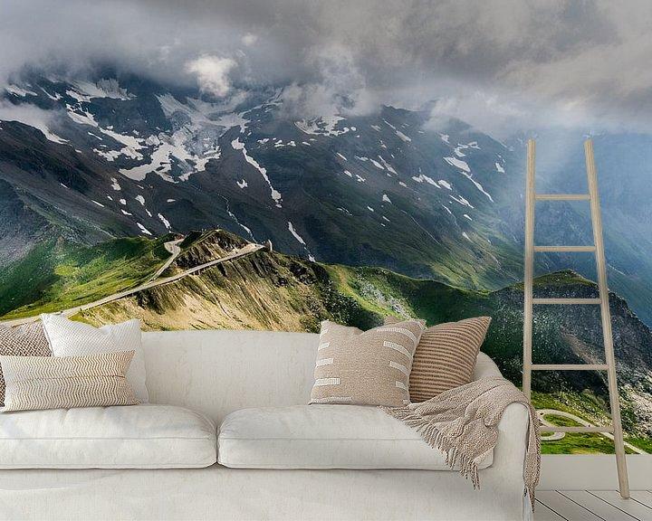 Sfeerimpressie behang: Bergpas Oostenrijk van Mario Visser