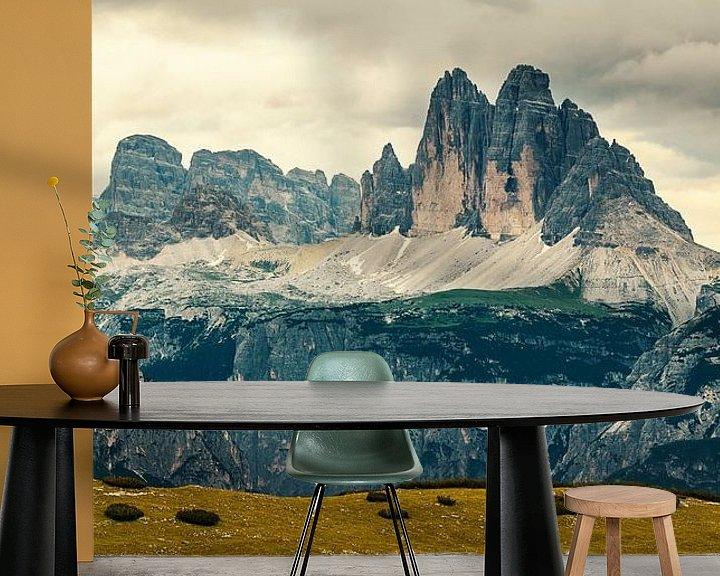 Sfeerimpressie behang: Tre cime de Lavaredo , Drie Pieken , Drei Zinnen van Reiner Würz / RWFotoArt