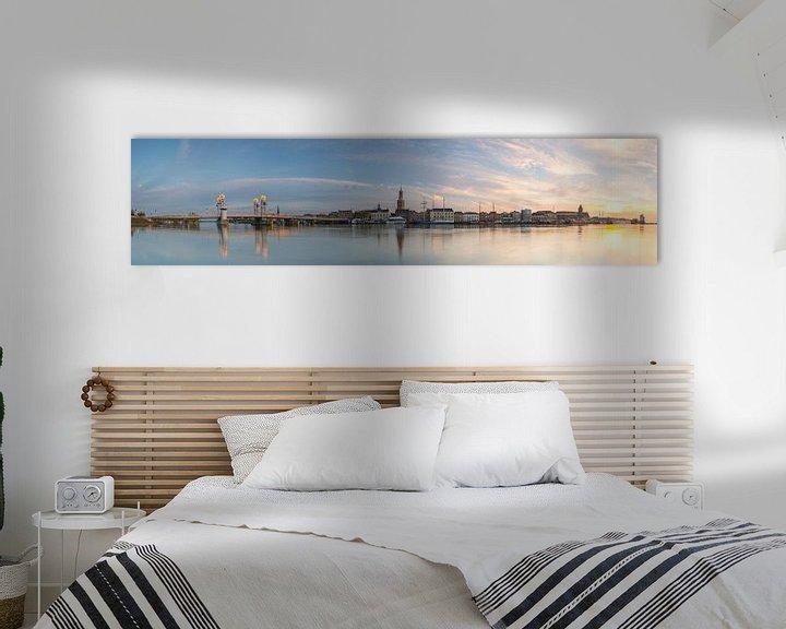 Sfeerimpressie: Panorama zonsondergang Kampen van Jan Koppelaar