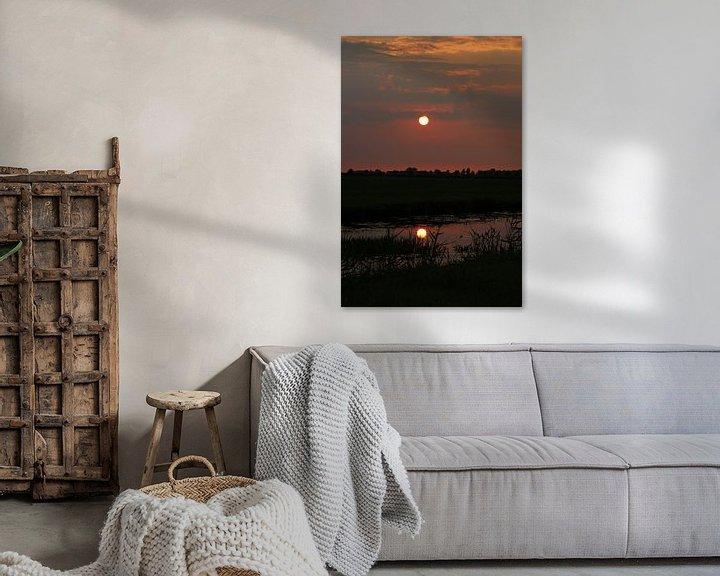 Sfeerimpressie: Zonsondergang in Friesland van Fotografie Sybrandy