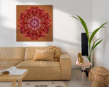 Kaleidoscoop, rood van Rietje Bulthuis