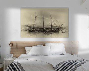 Zeilklipper Linde op Sail Amsterdam 2015 van Toon van den Einde