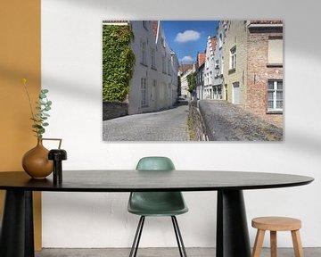 Straatje in Brugge von Rijk van de Kaa