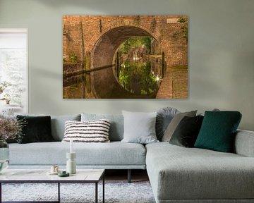 Nieuwegracht  en Paulusbrug in Utrecht in de avond  van Tux Photography