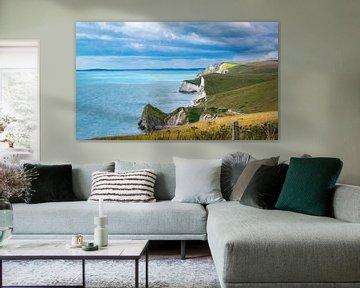 Krijtrotsen aan de Engelse Zuidkust, Jurassic Coast van Rietje Bulthuis