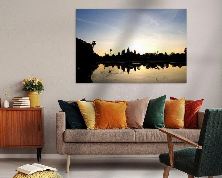 Sfeerimpressie: Sunrise over Angkor Wat van Levent Weber