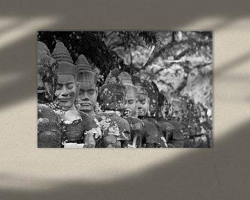 Figuren in der Tempelanlage von Angkor van Levent Weber