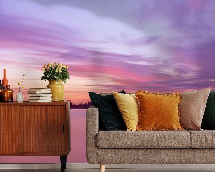 Sfeerimpressie behang: Hoorn Hoornse Hop zonsopgang van Hans Albers