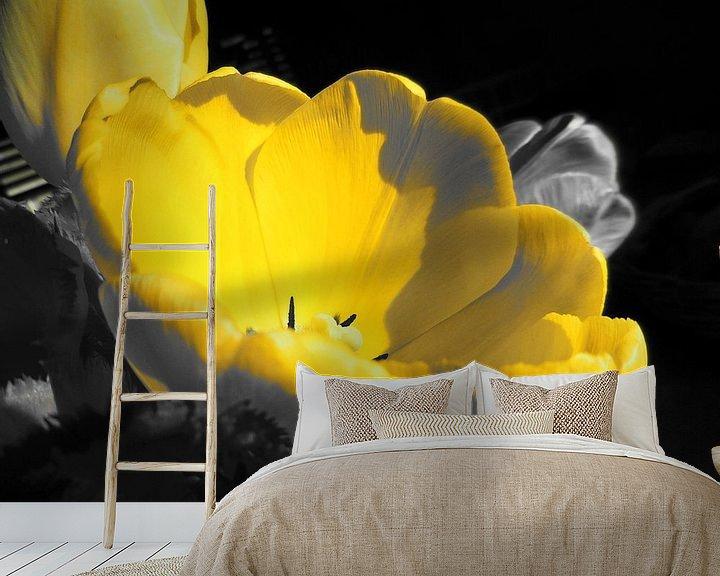 Impression: Gele bloem sur Dave van den Heuvel