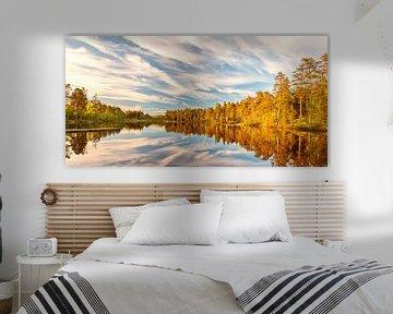 Stilte op een meer in Sweden van Martin Bergsma