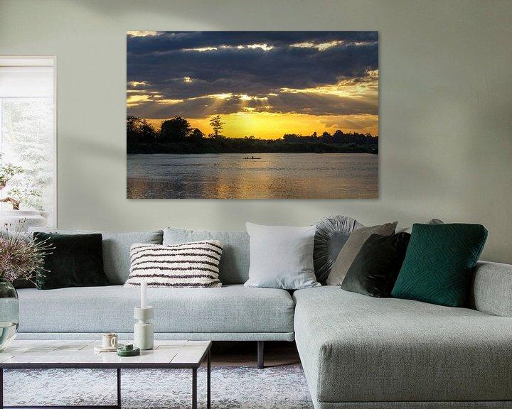 Beispiel: Sonnenuntergang am Mekong von Levent Weber