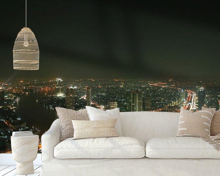 Beispiel fototapete: Über den Dächern bon Bangkok von Levent Weber