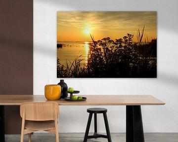Slotermeer Friesland - Zonsondergang  van Fotografie Sybrandy