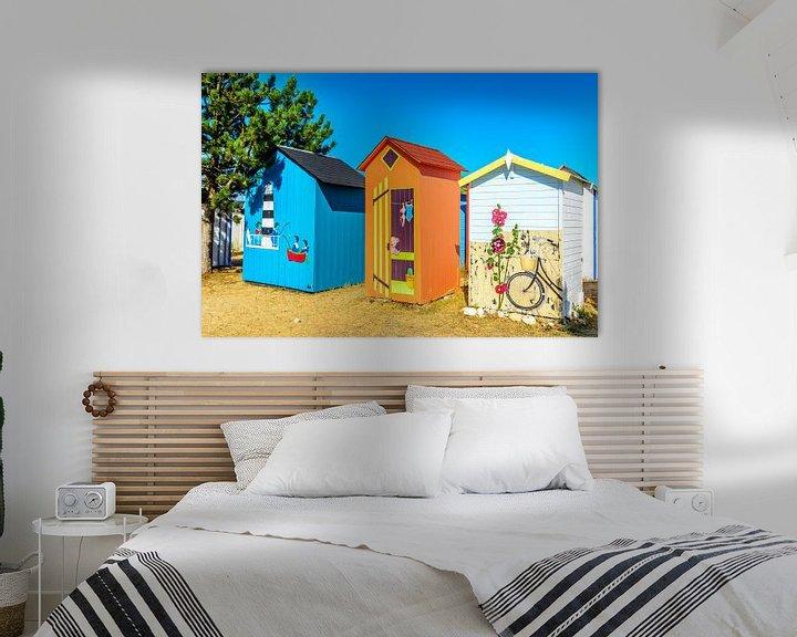 Sfeerimpressie: Strand kabines op Ile d'Oléron van 7Horses Photography