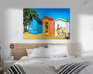 Strand kabines op Ile d'Oléron