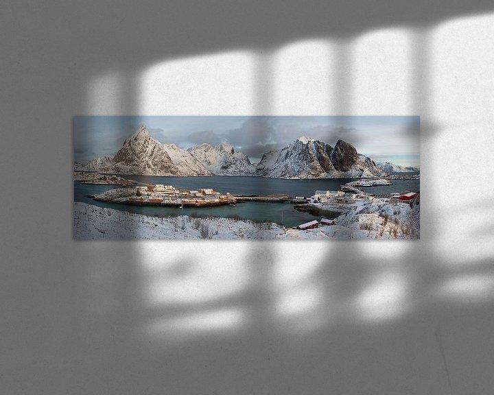 Sfeerimpressie: Noorwegen, Panorama Lofoten van Conny  van Kordelaar