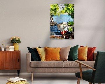 Bateau de pêche Curacao sur Joke Van Eeghem