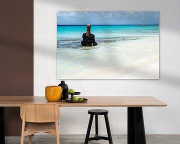 50 nuances de bleu de mer Klein Curacao sur Joke Van Eeghem