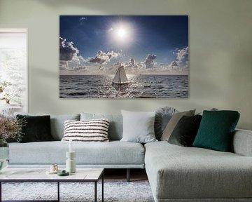 Zeilboot op het IJsselmeer von Harrie Muis
