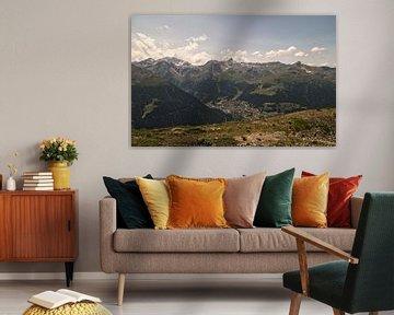 Het Dorp in de Vallei / Val d'Anniviers (Zwitserland) von Manuel Declerck