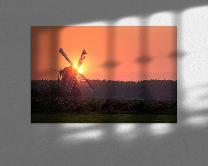 Sfeerimpressie: Noordermolen bij Zonsondergang van Frenk Volt