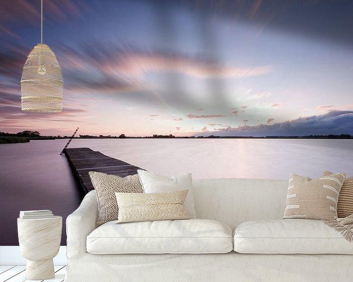 Sfeerimpressie behang: Schildmeer tijdens Zonsondergang van Frenk Volt