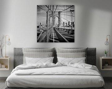 NYC Brooklyn Bridge van Melanie Viola