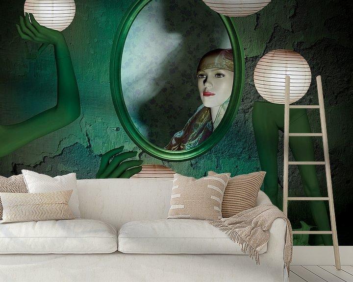 Beispiel fototapete: Das Geheimnis des grünen Zimmers von Erich Krätschmer