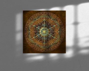 Mandala, goud tinten van Rietje Bulthuis